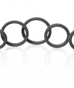 Boneyard Silicone Ring 5 Pc Kit Black
