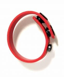 Boneyard Silicone Cock Strap - 3 Snap Ring - Red