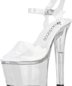 Clear Platform Sandal With Quick Release Strap 7in Heel Size 7