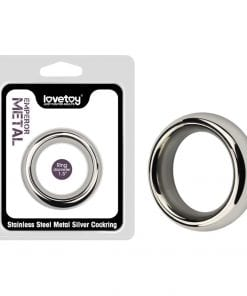 Stainless Steel Silver Cockring 1.5 in