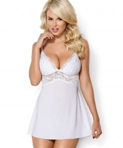 Classic Babydoll And Thong White