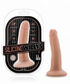 Silicone Willys 5.5in Silicone Dildo Vanilla
