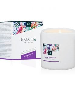 Exotiq Massage Candle Violet Rose 200g