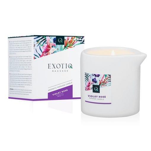Exotiq Massage Candle Violet Rose 200g