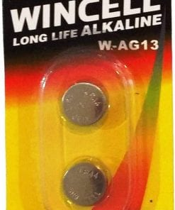 Wincell Alkaline LR44 2 Pack Carded Battery