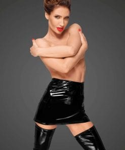 PVC Mini Skirt With Hidden Side Zipper