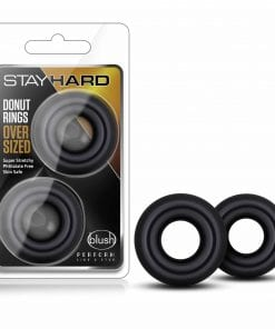 Stay Hard Donut Rings Oversized Black