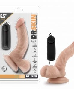 Dr Skin Dr Ken 6.5in Vibrating Cock with Suction Cup Vanilla