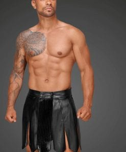Leather Men Gladiator Skirt