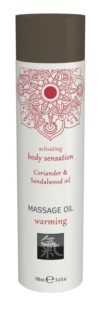 Shiatsu Massage Oil Warming Coriander And Sandalwood Oil 100ml