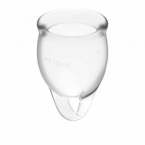 Feel confident Menstrual Cup Transparent 2pcs
