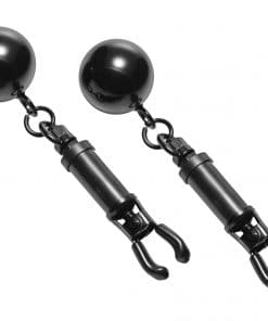 Black Bomber Nipple Clamps With Ball Weights