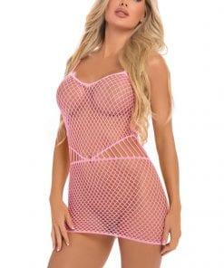 Roll Up Net Mini Dress