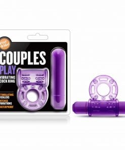 Play With Me Couples Play Vibrating Cock Ring Purple