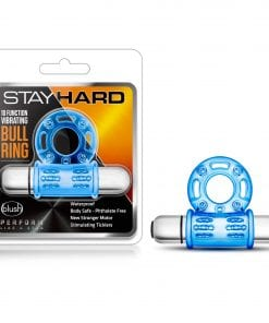 Stay Hard 10 Function Vibrating Bull Ring Blue