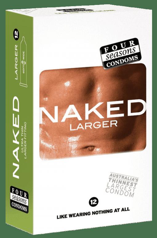 Condom Ultra Thin 12pk Naked Larger 60mm