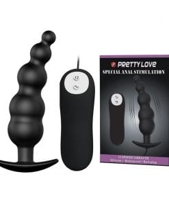 "Vibrating Ribbed Anal Butt Butt Plug 4.7"" x 1.2"" Black"