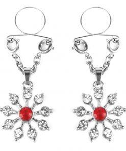 Ruby and Diamond Star Nipple Jewellery