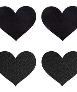 Classic Black Hearts Pasties