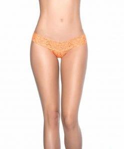 Sexy Lace V Back Thong Orange