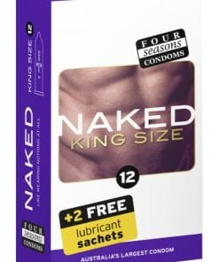 Four Seasons Naked King Size Condom 12 Pc