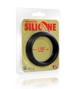Wide Donut Black Cock Ring 48mm