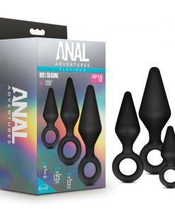 Anal Adventures Platinum Silicone Loop Plug Kit